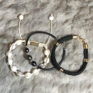 Set of 3 - Joseph Nogucci & Black Bracelets